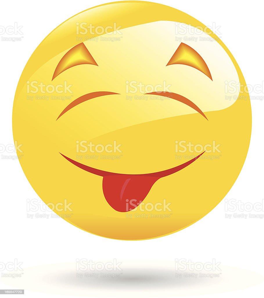 Emoticon-mit Lasche – Vektorgrafik