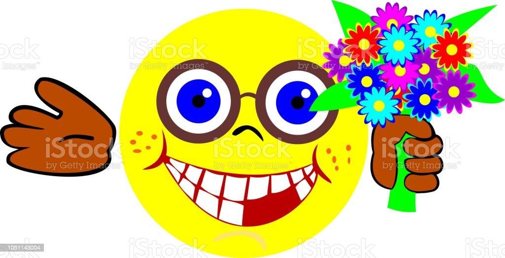 Mit blumenstrauß smiley Fruchtgummi Blumenstrauß