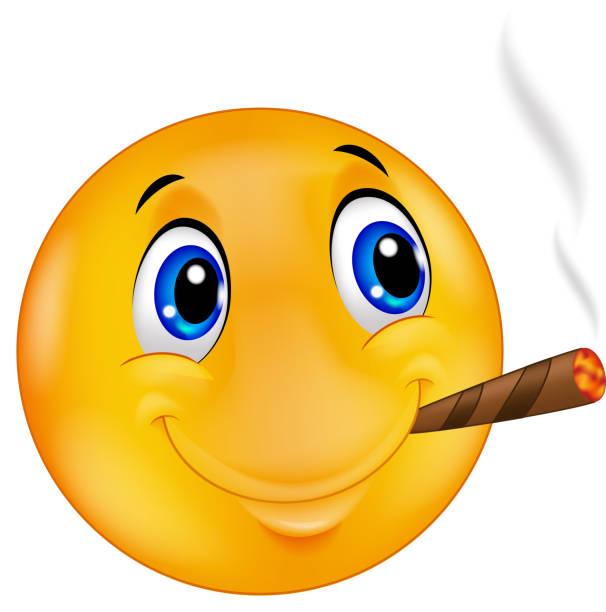 Rauchender kopf smiley