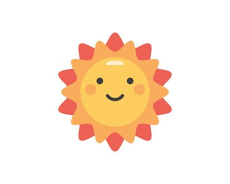 Emoticon Sun flat design