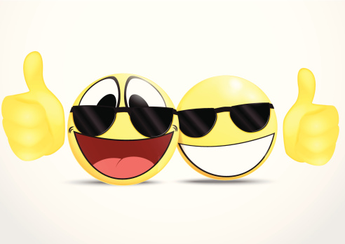Emoticon Wearing Glasses With Thumb Business Commerce Stock Illustration - Download Image Now