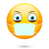 emoticon-wearing-safety-mask-vector-id60