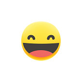 Vector illustration of a cute and colorful emoticon with a big facial expression. Perfect for online messaging, social media platforms, mobile apps and all kinds of design projects, ideas and concepts, as well as business and technology.