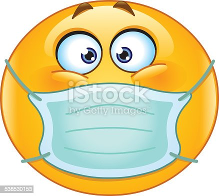 emoticon-with-medical-mask-vector-id5385