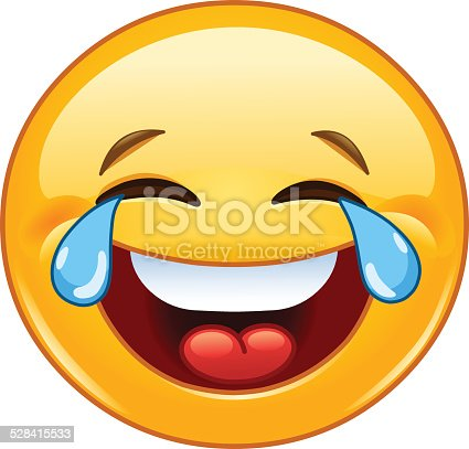 istock Emoticon with tears of joy 528415533
