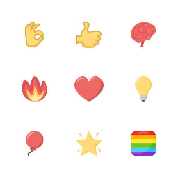 emoticons collection - emoji stock illustrations, clip art, cartoons, & icons