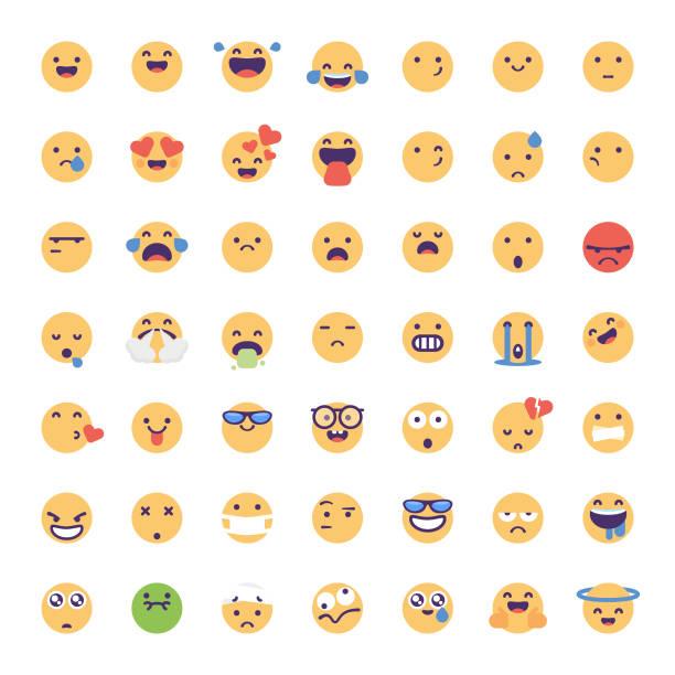 stockillustraties, clipart, cartoons en iconen met emoticons collectie - tears corona