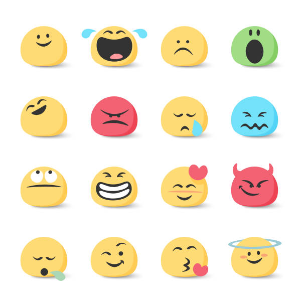 emoticons collection - confused emoji stock illustrations, clip art, cartoons, & icons