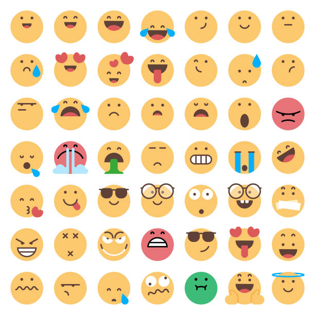 stockillustraties, clipart, cartoons en iconen met emoticons collectie - smile