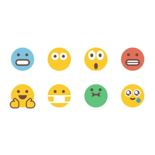stockillustraties, clipart, cartoons en iconen met emoticons essentiële emoties - tears corona