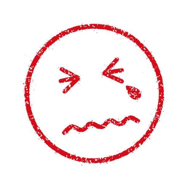 絵文字バスタオル/スタンプ アイコン (悲しい、泣き) - 泣く点のイラスト素材/クリップアート素材/マンガ素材/アイコン素材