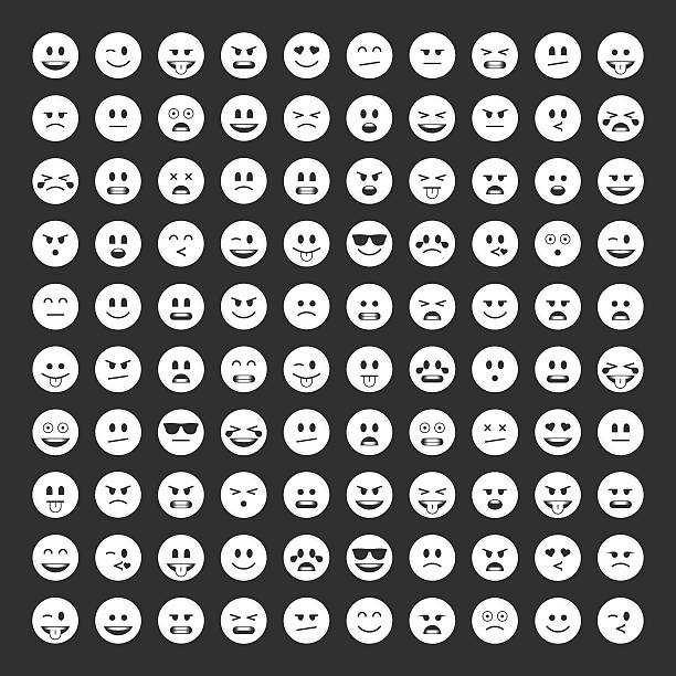 Emoticons icon pack. - Illustration vectorielle