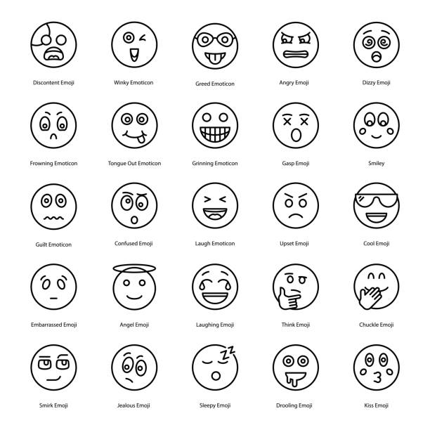 emoticons icons collection - jealous emoji stock illustrations, clip art, cartoons, & icons