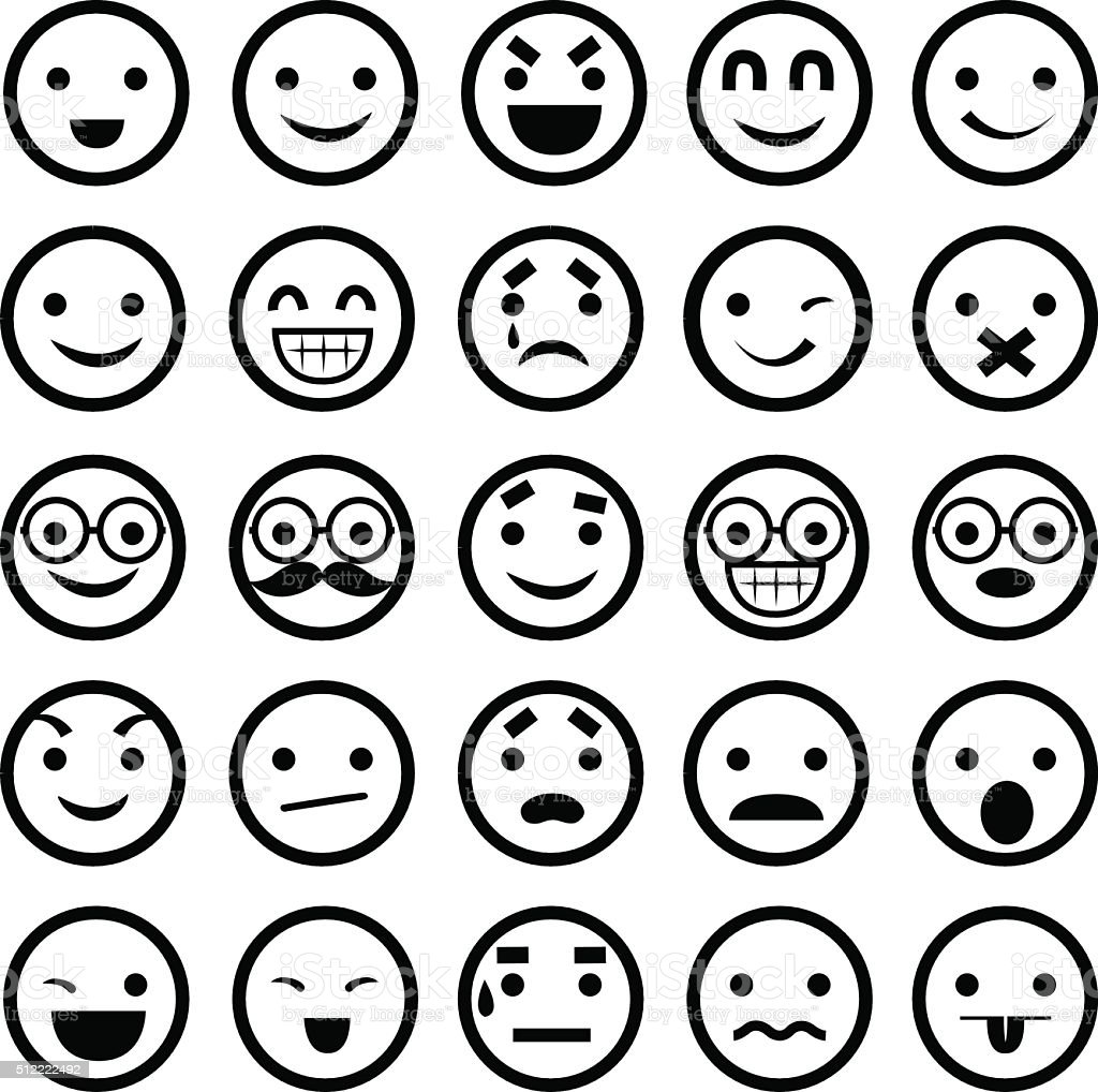 Emoticons - Illustration vector art illustration