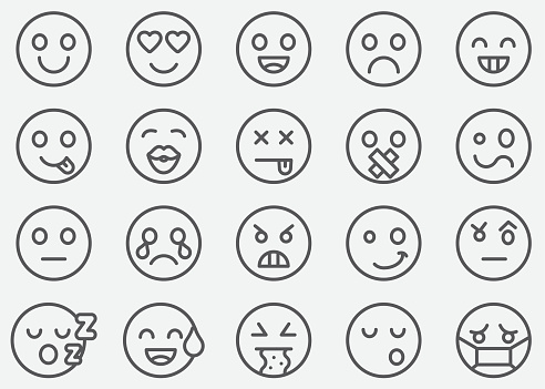 Emoticons Line Icons