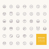 Emoticons Outline Icons for web and mobile apps