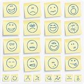Emoticons postit notes