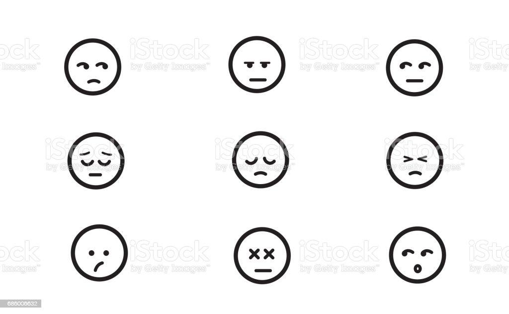 Emoticons set 5 - ilustración de arte vectorial