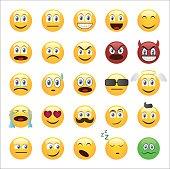 Emoticons set cartoon style