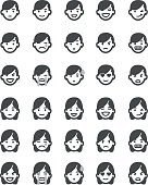 Emoticons set men