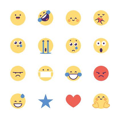 Emoticons social media essentials pack