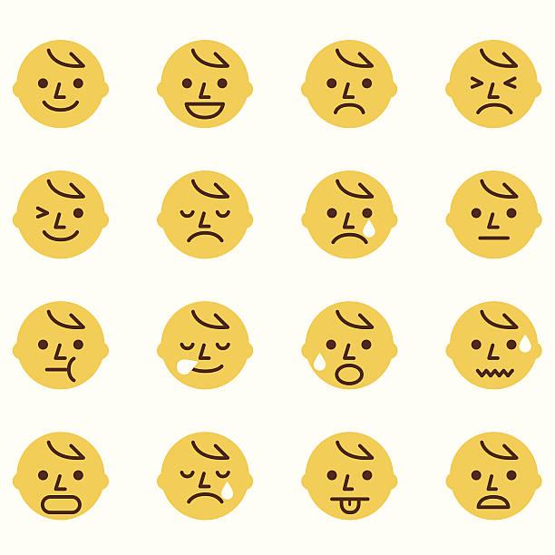 ilustraciones, imágenes clip art, dibujos animados e iconos de stock de emoticons - lágrimas de emoji alegre