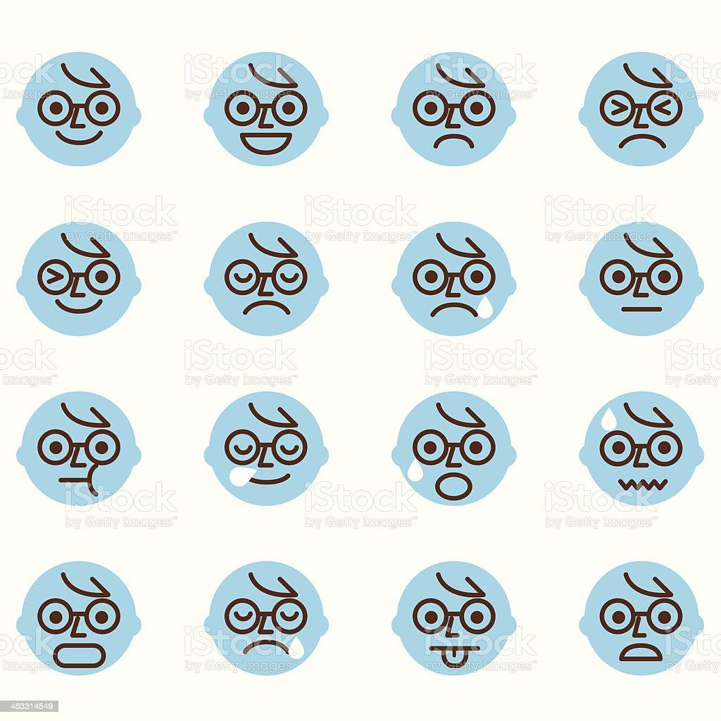 Emoticons - ilustración de arte vectorial