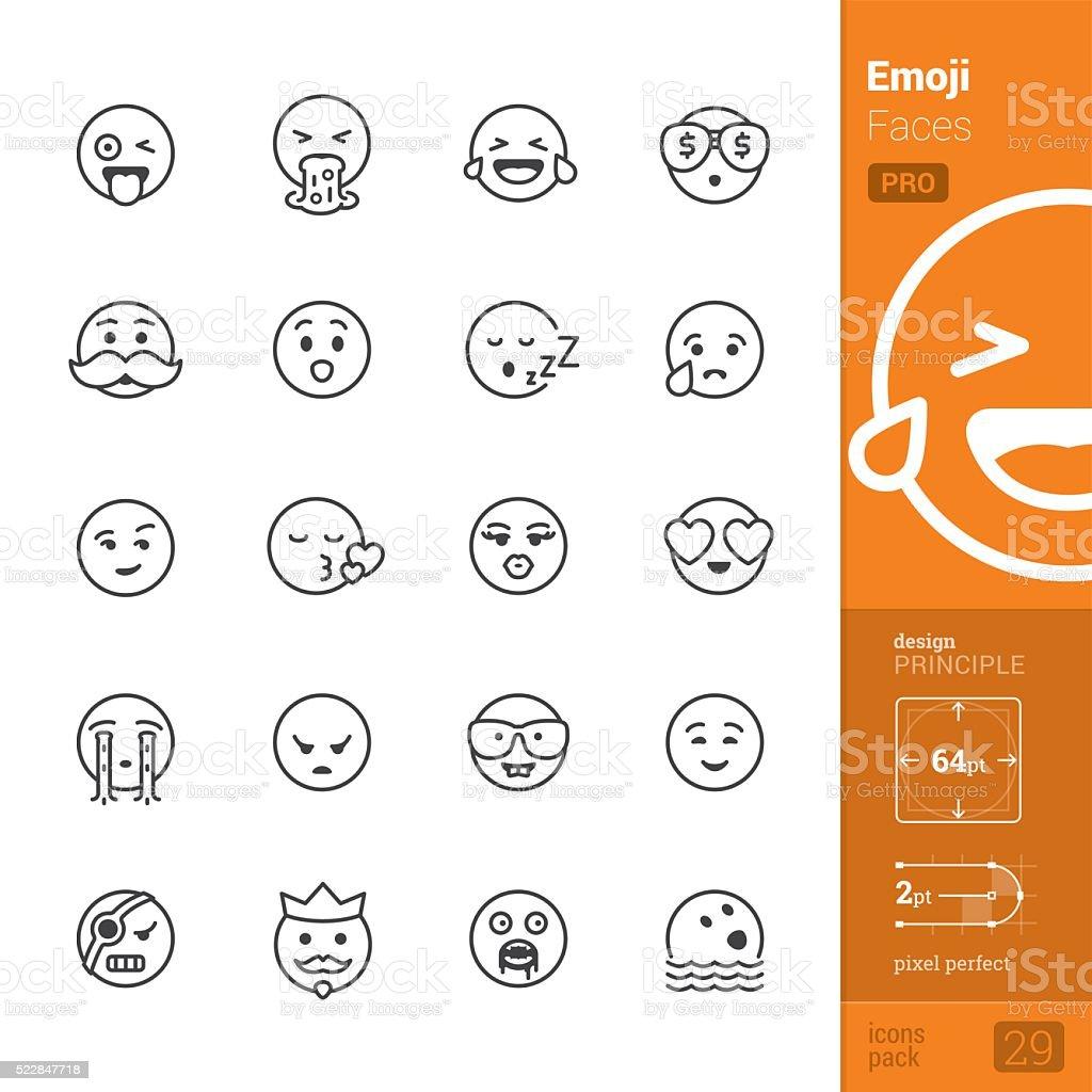 Emoção cara vetor ícones-PRO pacote - ilustração de arte em vetor
