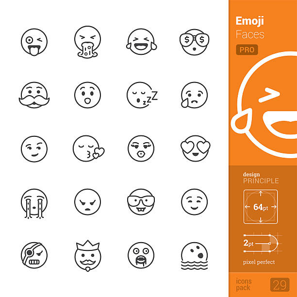 bildbanksillustrationer, clip art samt tecknat material och ikoner med emotion face vector icons - pro pack - cravings