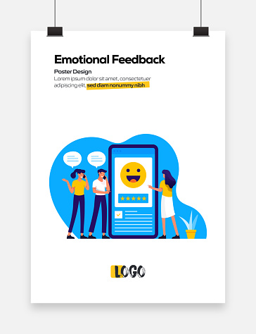 Emotional Feedback Concept Flat Design for Posters, Covers and Banners. Modern Flat Design Vector Illustration.