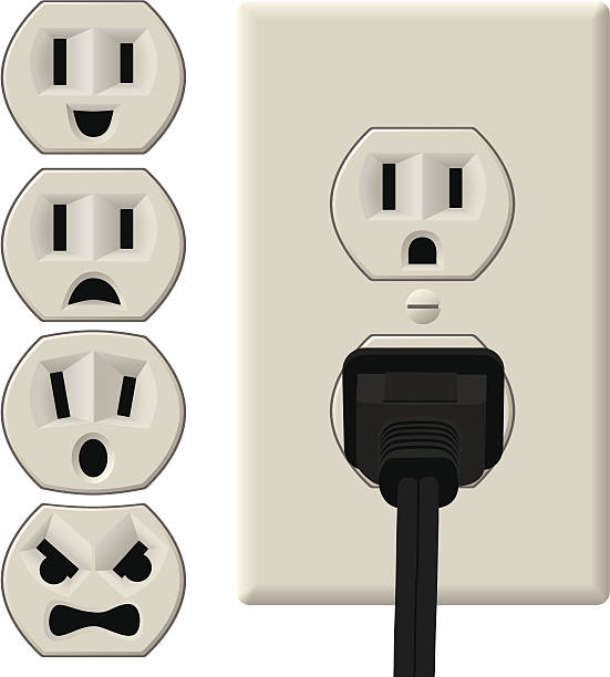 royalty free electric plug clip art vector images