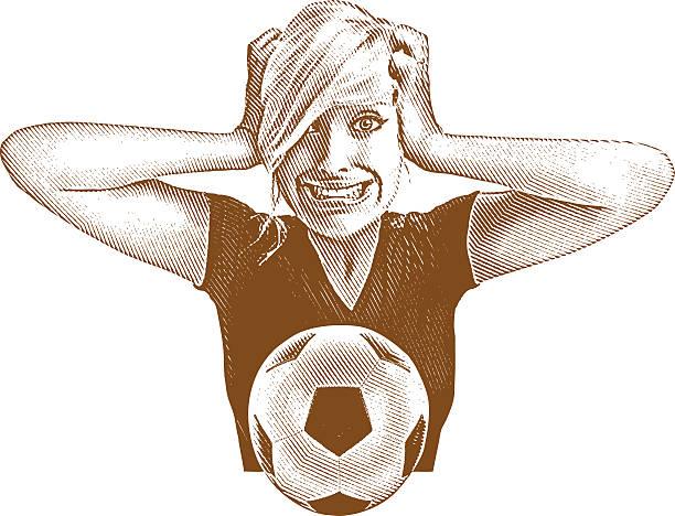 ilustrações de stock, clip art, desenhos animados e ícones de emocional fã de futebol - soccer supporter portrait