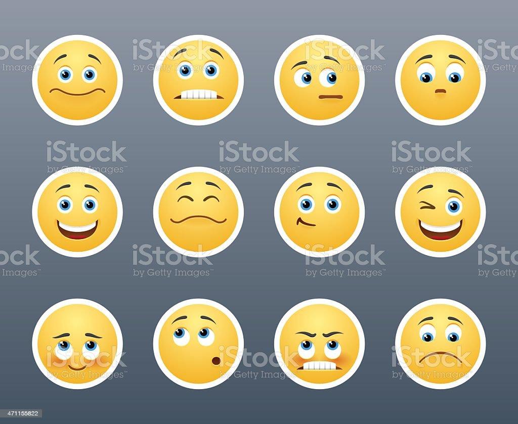 Emotional Stickers vector art illustration