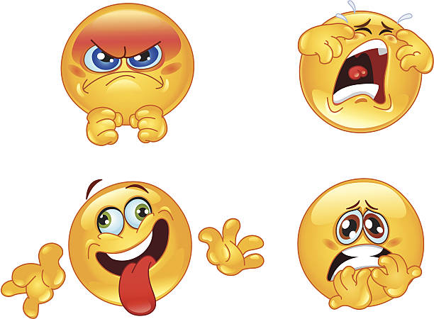 emotions emoticons - angry emoji stock illustrations, clip art, cartoons, & icons