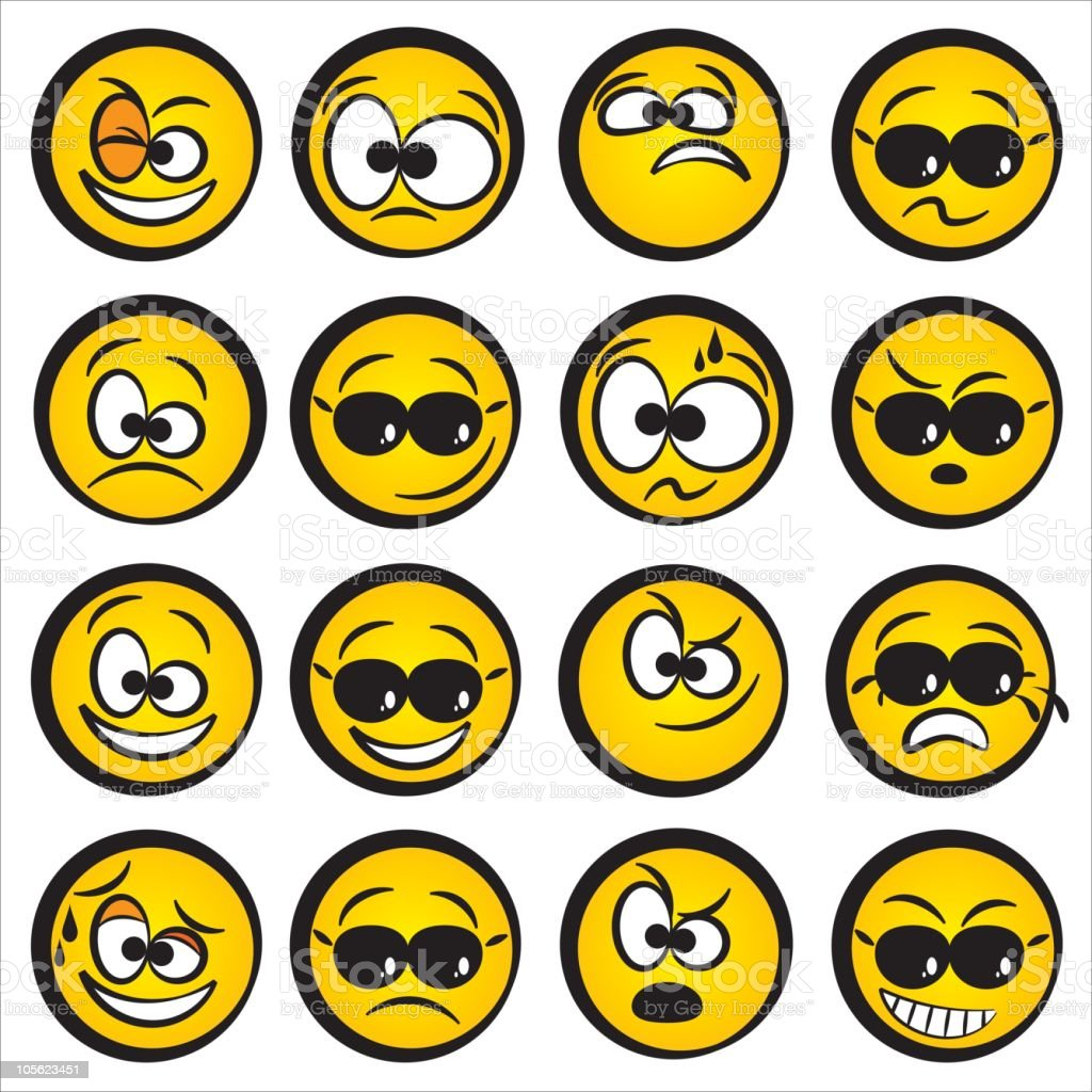 emotions icons set royalty-free stock vector art