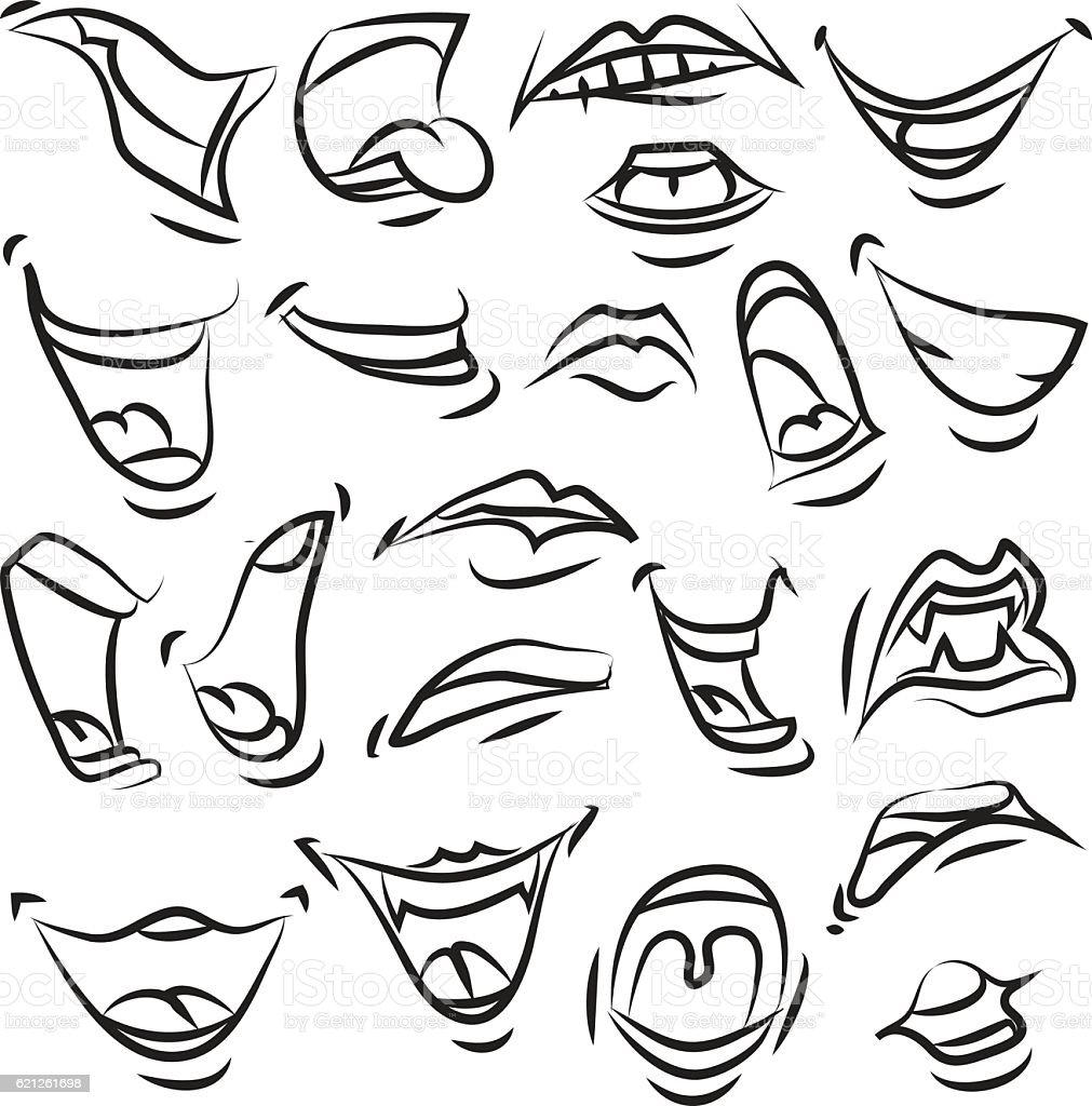 f57119649c9 Emotions Lips Stock Vector Art   More Images of Anger 621261698