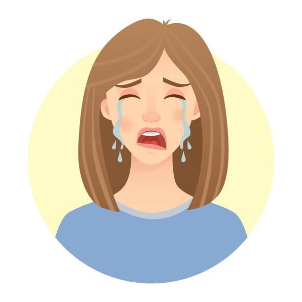 梨花顔の感情 - 泣く点のイラスト素材/クリップアート素材/マンガ素材/アイコン素材