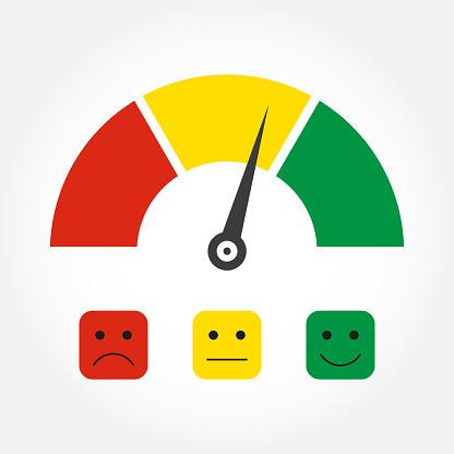 Ilustración de Escala De Emociones O Icono De Medidor Medidor De  Satisfacción Del Cliente Elemento Infográfico De Comentarios Del Cliente  Ilustración Vectorial y más Vectores Libres de Derechos de Actuación -  Conceptos -