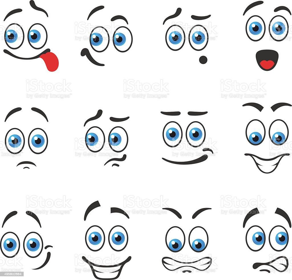 Emotions smiles vector art illustration