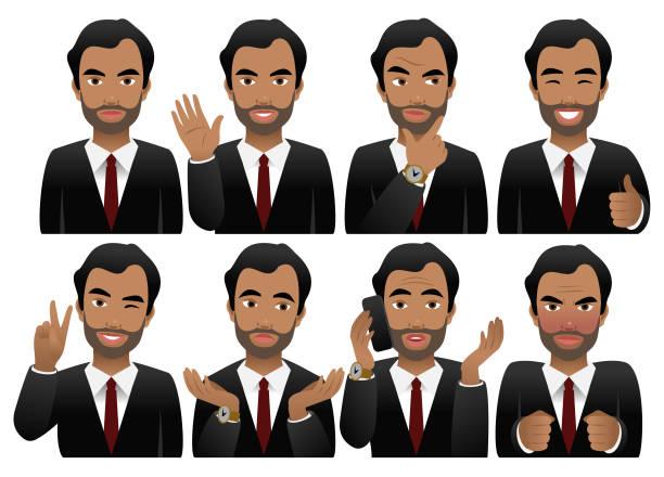 ilustrações de stock, clip art, desenhos animados e ícones de emotions - portrait of confident business