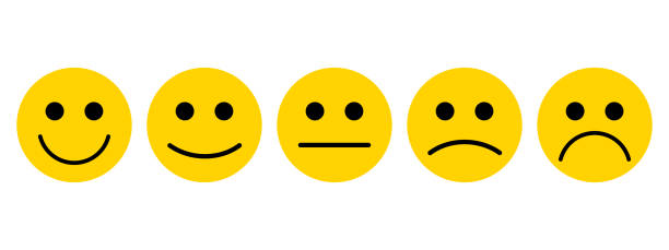 emotionen mit einem lächeln. - smileys zum kopieren stock-grafiken, -clipart, -cartoons und -symbole