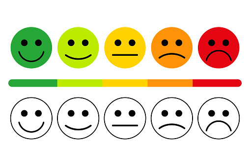 emotions with smiles. clipart