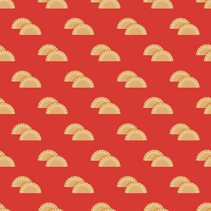 Empanada Mexican Food Pattern