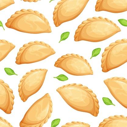 Empanadas seamless pattern