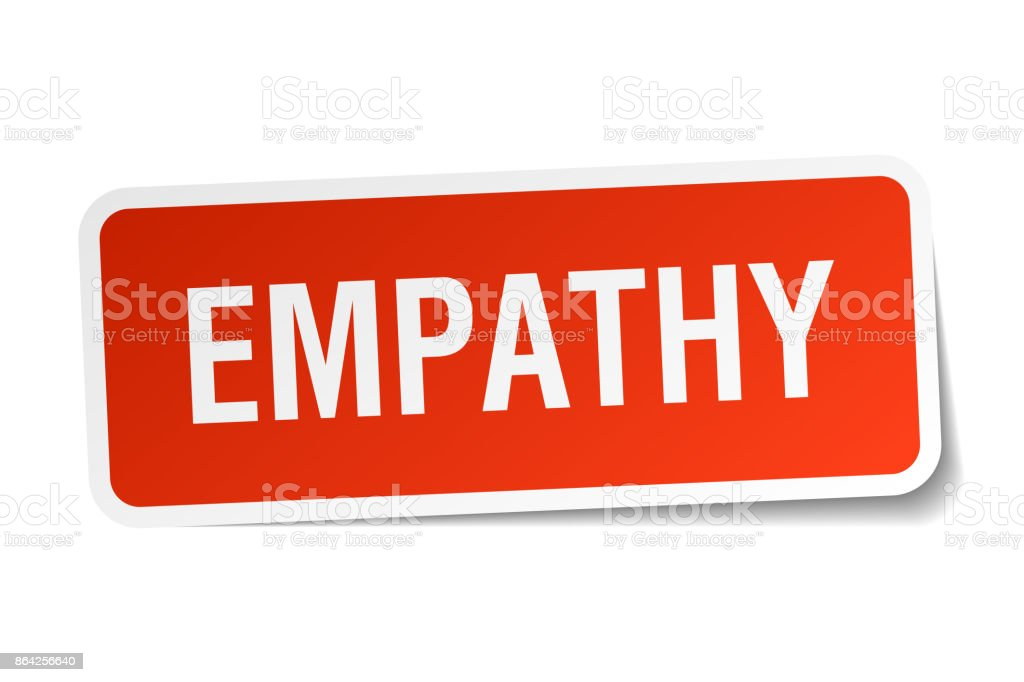 empathy square sticker on white royalty-free empathy square sticker on white stock vector art & more images of badge