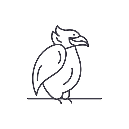 Emperor penguin line icon concept. Emperor penguin vector linear illustration, symbol, sign