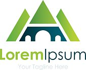 Empire of nature green eco bussiness element icon logo