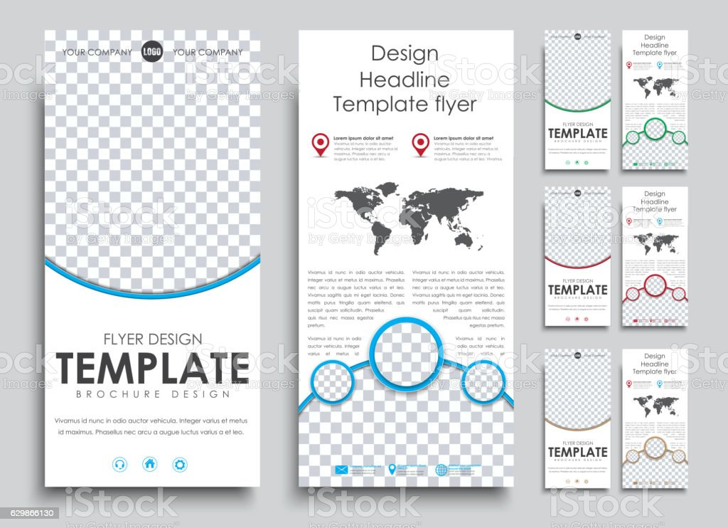 emplates 2 pages with space for photo and text in vector art illustration