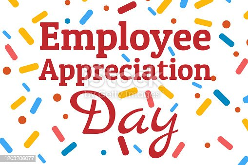 Employee Appreciation Day concept. First Friday in March. Holiday concept. Template for background, banner, card, poster with text inscription. Vector EPS10 illustration