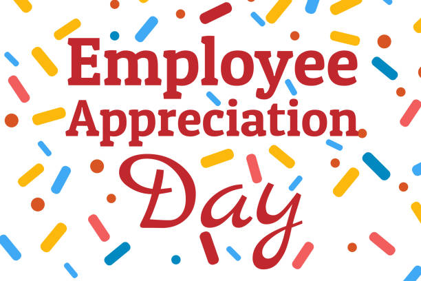 Employee Appreciation Day concept. First Friday in March. Holiday concept. Template for background, banner, card, poster with text inscription. Vector EPS10 illustration. Employee Appreciation Day concept. First Friday in March. Holiday concept. Template for background, banner, card, poster with text inscription. Vector EPS10 illustration day stock illustrations